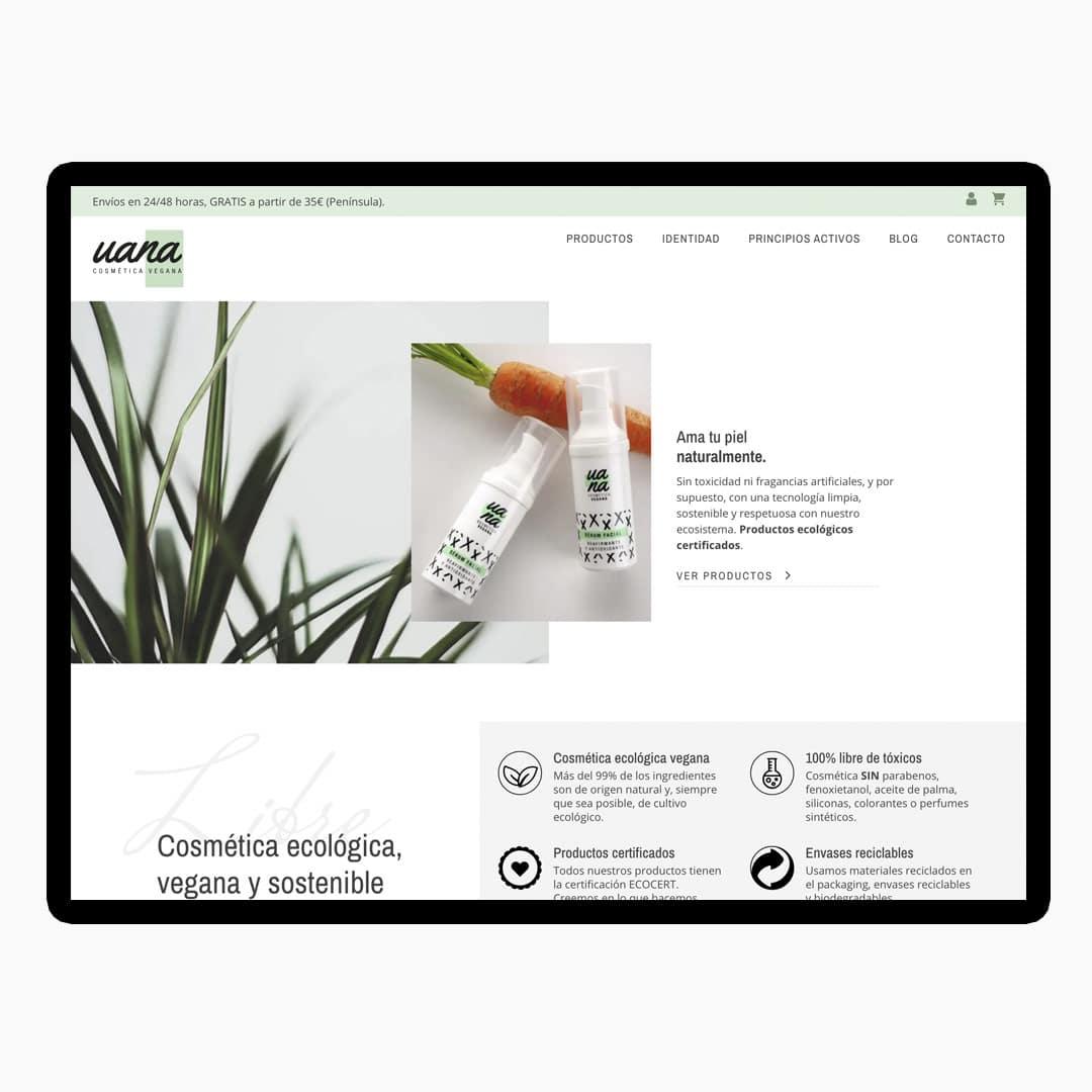 Diseño Web en Madrid UANA Cosmetica