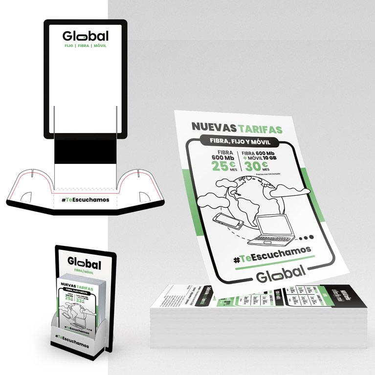 diseño imagen corporativa Global