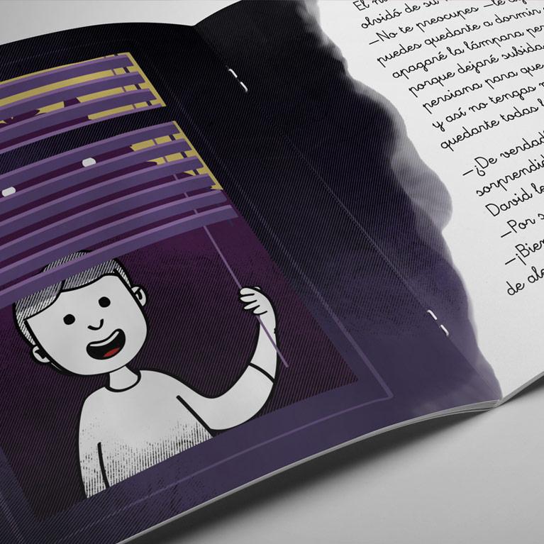 Maquetación de libros: El Monstruo que tenía miedo a la oscuridad
