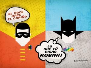 Batman y Robin calendario 2014 superheroes dadu estudio