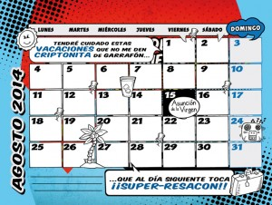 Calendario Agosto 2014 Dadu Estudio