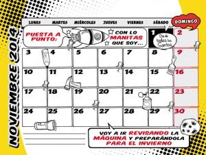 Calendario septiembre 2014 superheroes dadu estudio