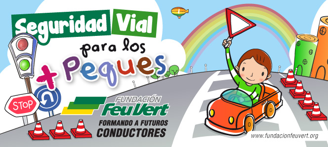 Diseño de imagen de campaña Seguridad Vial para los + Peques de la Fundación Feu Vert.
