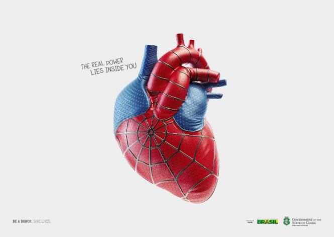 Campaña: los donantes de órganos tienen corazón de superhéroe