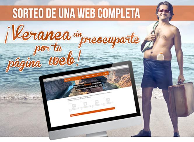 ¡Gana este sorteo de una página web y veranea sin preocupaciones!