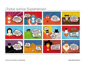 Trasera calendario superheroes 2014 dadu estudio