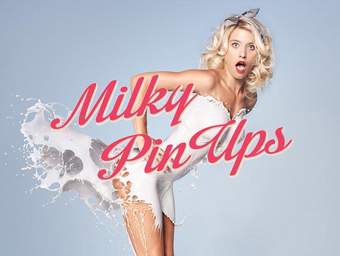 Calendario Milky Pin Ups: leche, los años 40 y un gran trabajo de photoshop
