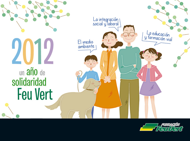Diseño de Calendario 2012 de la Fundación FEU VERT