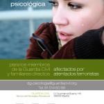 Cartel Tríptico de Programa de Asistencia Psicológica para los Mienbros de la Guardia Civil y Familiares Afectados por Atentados Terroristas.